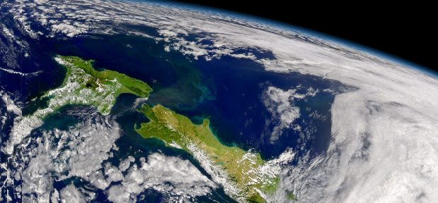 A very green looking New Zealand